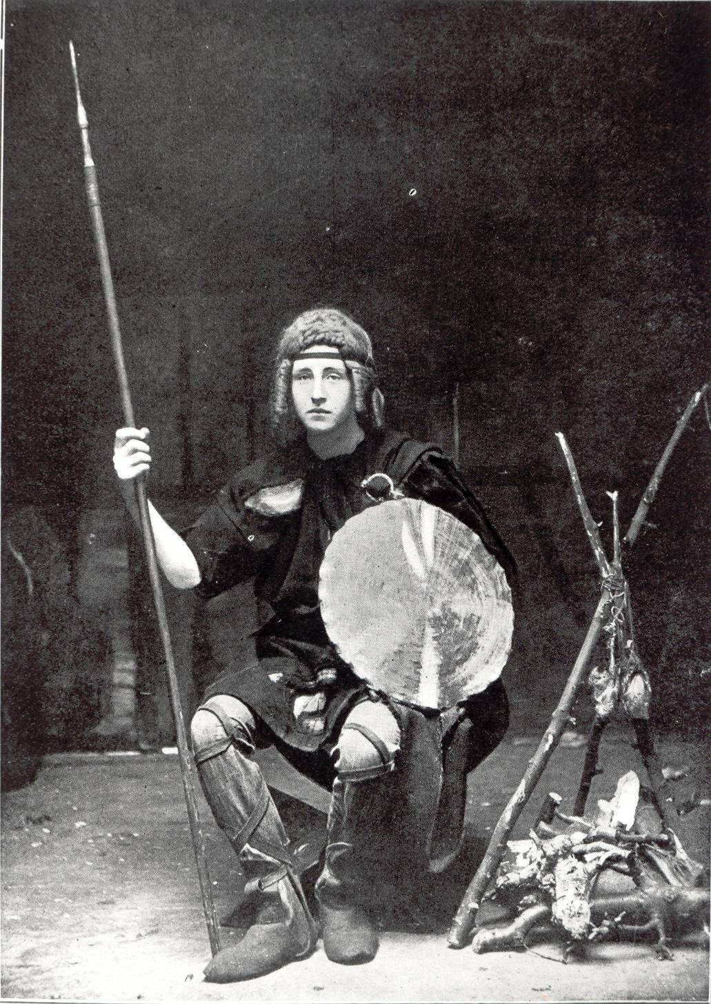 Eamon Bulfin as Cairbre in The Coming of Fionn by Standish O'Grady. Bulfin went on to fight in the 1916 Rising. OPW.