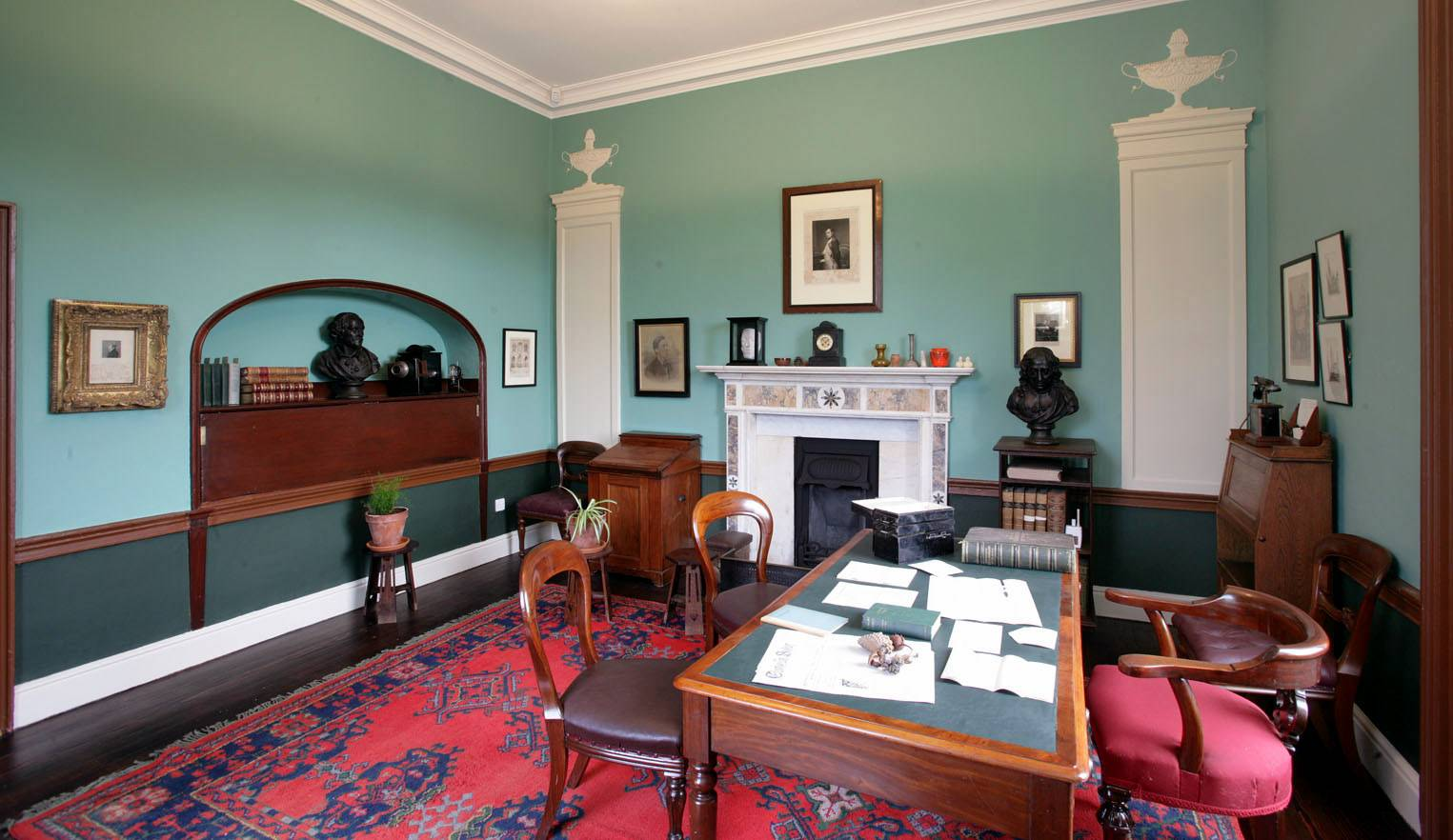 The study at St Enda's. ©National Monuments Service Dept of Arts, Heritage and the Gaeltacht.