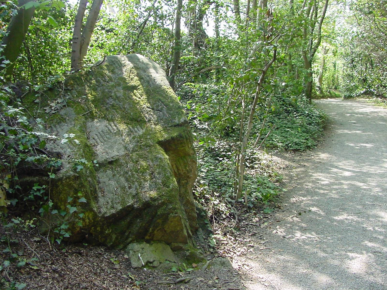 Ogham Stone in St Enda's Park. OPW.